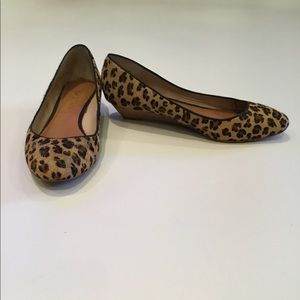 Leopard wedges
